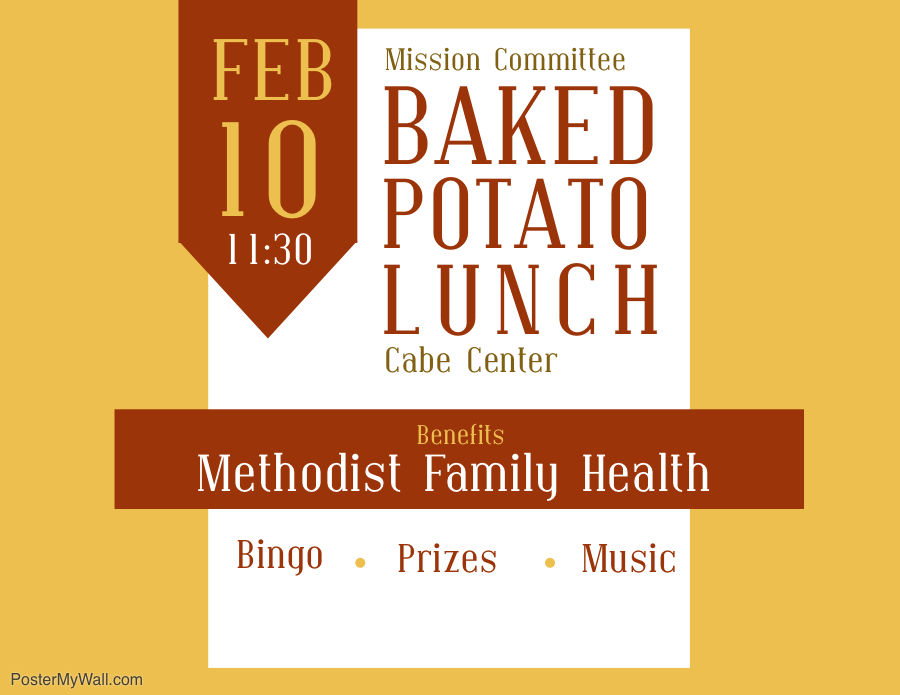 Image result for fumc texarkana baked potato lunch
